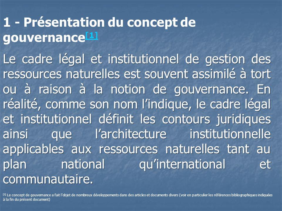 1 - Présentation du concept de gouvernance[1]